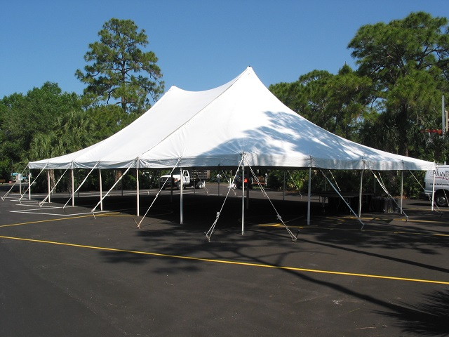 40X60 POLE TENT IN ASPHALT