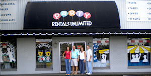 Visit our showroom at Party Rentals Unlimited located in Winter Haven Florida