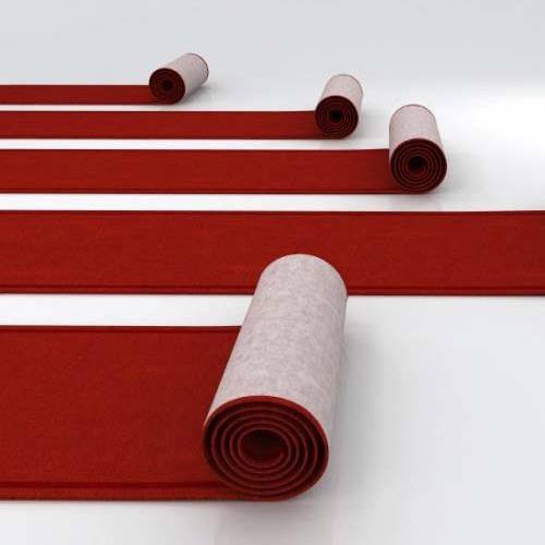 Where to find AISLE CARPET RED 35 X3 in Winter Haven