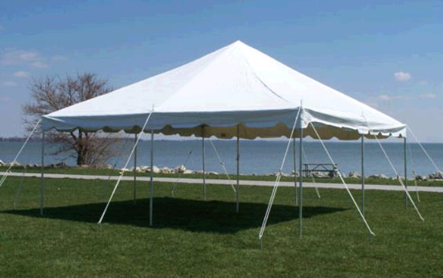 Where to find TENT 20X20 POLE WHITE in Winter Haven