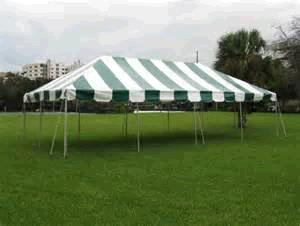 Where to find TENT 20X40 POLE GREEN   WHITE in Winter Haven