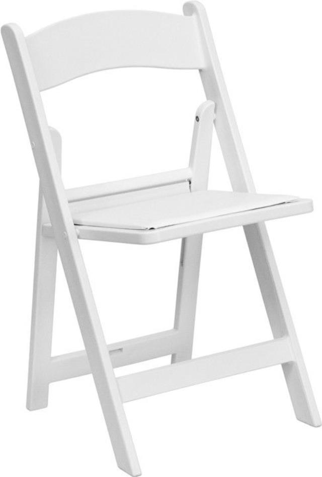 Where to find CHAIR WHITE RESIN PADDED SEAT in Winter Haven