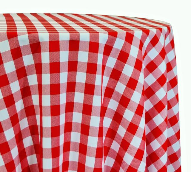 Where to find LINEN 96 RD RED GINGHAM in Winter Haven