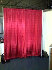 Where to find DRAPE RED BANJO 8 HX10 W W  PIPE in Winter Haven