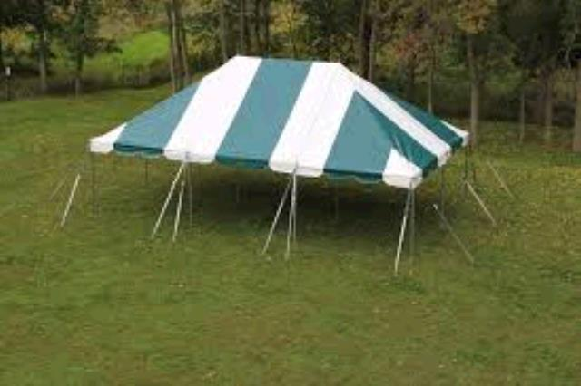 Where to find TENT 20X30 POLE GREEN   WHITE in Winter Haven