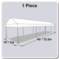 Rental store for TENT 10X40 MARQUEE WHITE in Winter Haven FL