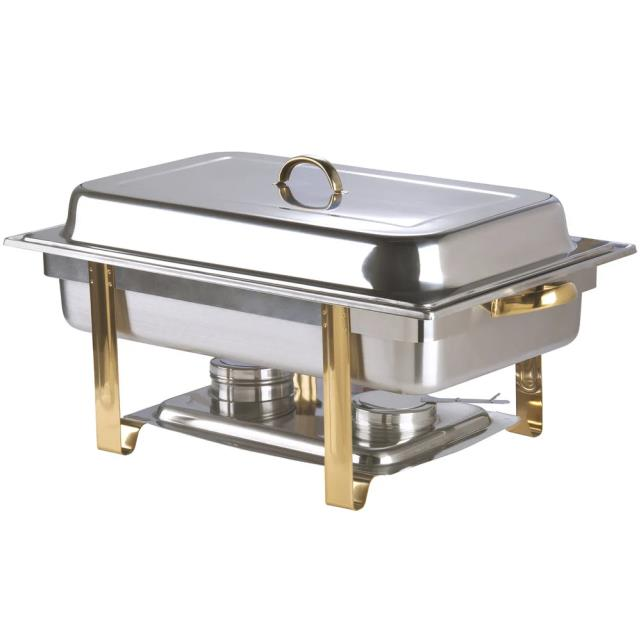 Where to find SS CHAFER 8QT GOLD TRI in Winter Haven