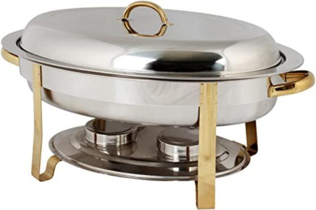 Where to find SS CHAFER 6QT OVAL GOLD in Winter Haven