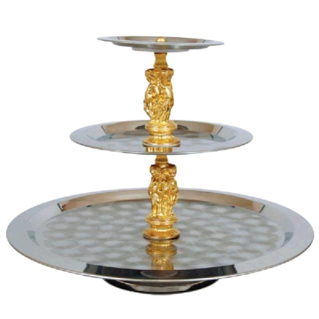 Where to find SS TIERED TRAY W GOLD in Winter Haven