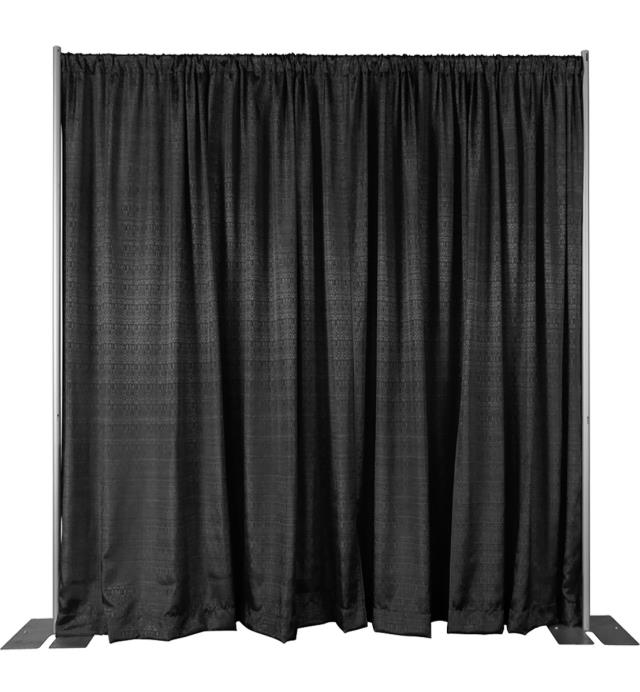 Where to find DRAPE BLACK PREMIUM 12 H X 10 W W  PIPE in Winter Haven