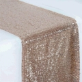 Rental store for LINEN 13X108 CHAMPAGNE SEQUIN RUNNER in Winter Haven FL