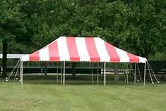 Where to find TENT 20X30 POLE RED   WHITE in Winter Haven