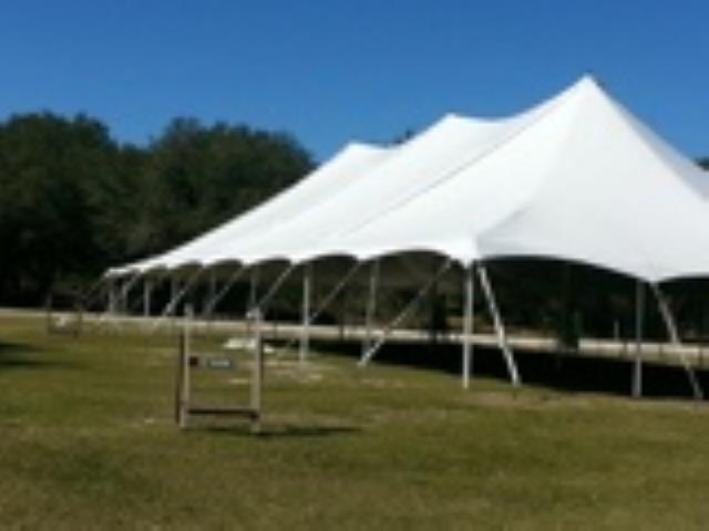 Where to find TENT 40X100 POLE WHITE in Winter Haven