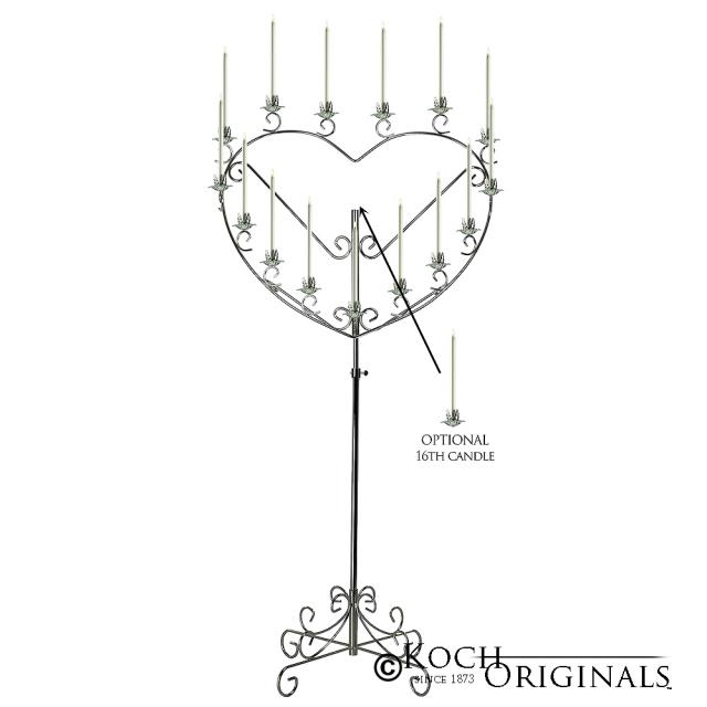 Where to find CANDELABRA SILVER HEART 17 in Winter Haven