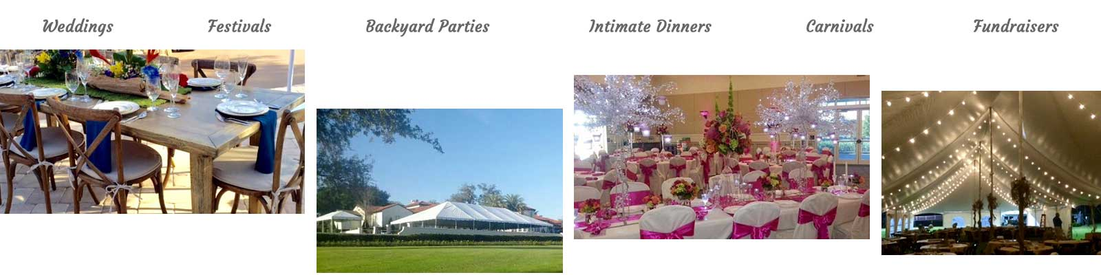 Event rentals in Winter Haven